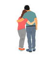 young hugged couple in love happy lovers vector image vector image