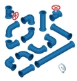 3d flat isometric collection vector image