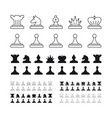 chess set on white background vector image