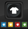 t-shirt icon symbol Set of five colorful stylish vector image