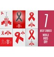Set of World AIDS day Banners Flyers and Posters vector image