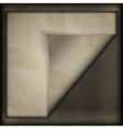Old paper background frame vector image