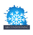 air conditioning symbol abstract vector image vector image