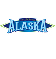 alaska the last frontier vector image vector image