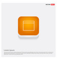 application window interface icon orange abstract vector image vector image