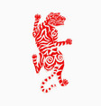 asian japanese tiger wild animal for tattoo vector image vector image