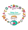 Baby Care frame vector image
