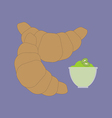 Baked Croissant Icon vector image vector image