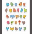 bird alphabet poster vector image