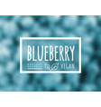 blueberry background and label on it vector image vector image