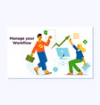 business workflow managementcompany teamwork vector image vector image