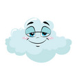 cartoon cloud with a face vector image vector image