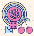 casino roulette craps game fortune image design vector image
