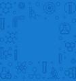 chemistry blue square outline background vector image