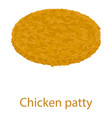 chicken cutlet icon isometric 3d style vector image vector image