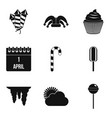 children adventures icons set simple style vector image