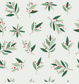 christmas tree winter season collage pattern vector image vector image