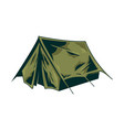 classic vintage camping tent for trip vector image vector image