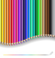 color pencil pattern vector image vector image