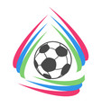 color stripes circle soccer logo vector image