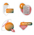 colorful infographic process chart and arrows vector image vector image