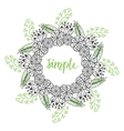 Cute floral frame Doodle flowers pattern in vector image