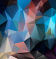 dark blue multi colored polygon triangular pattern vector image vector image