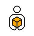 delivery man logo vector image vector image
