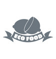 eco food logo simple style vector image