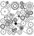 figure gears symbols icon vector image vector image