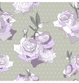 Floral seamless pattern Background with roses vector image vector image