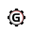 gear solution logo letter g vector image vector image