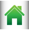 Home silhouette Green gradient icon vector image vector image