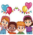 kids on birthday party vector image vector image