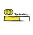 loading bar with golden bitcoin coins vector image