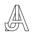 logo sign aj icon sign interlaced letters a j