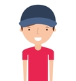 man delivery worker isolated icon vector image