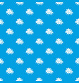 maple pattern seamless blue vector image