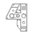 mechanical number 4 engraving vector image vector image