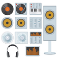 Music equipment vector image vector image