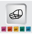Muzzle flat icon vector image vector image