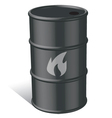 Oil and Gas tank vector image