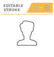 person editable stroke line icon vector image vector image