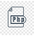 php concept linear icon isolated on transparent vector image