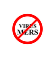 prohibiting sign virus Mers vector image