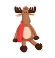 reindeer toy claus factory vector image vector image