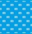 reminder pattern seamless blue vector image vector image