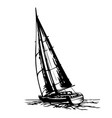 sailing yacht stylized vector image vector image