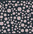 seamless baseball balls pattern background vector image vector image