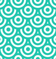 Seamless pattern with circles blue green and white vector image vector image